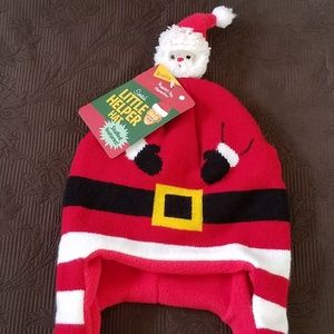 Wembley Accessories - NWT SANTA CHRISTMAS HAT RED WHITE BLACK